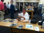 Terry signing copies of her new book.