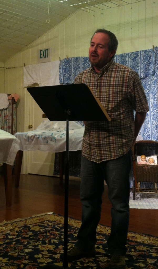 Tod Marshall kicked things off with a terrific reading, including a Whitman-influenced piece in praise of the belly.