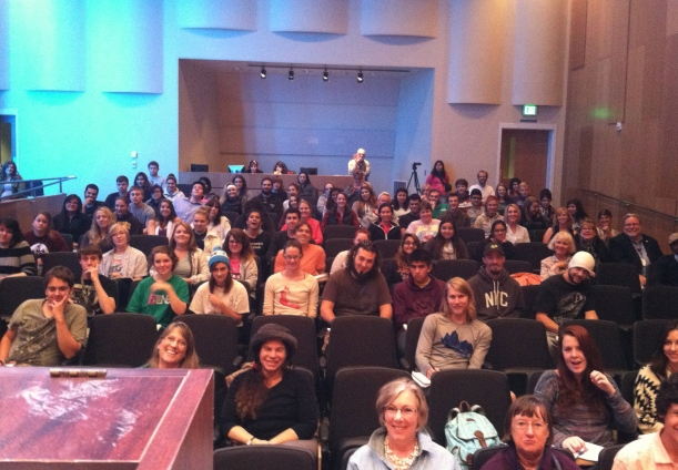 Wonderful audience at Wenatchee Valley College! Thank you, Derek Sheffield for inviting me.